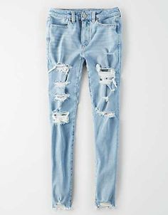 Shop at American Eagle for Jeggings that look as good as they feel. Browse our jeggings in different rises (from low to highest), in different washes and stretch levels. Girls Ripped Jeans, Ae Jeans, Skinny Jeans, Jeans Women, Simple Outfits For School, Calvin Klein Outfits, Painted Jeans, Tights Outfit, Clothing Hacks
