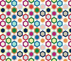 hexagons fabric by amybethunephotography on Spoonflower - custom fabric