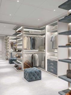 Bedroom Closet Design, Home Room Design, Closet Designs, Dream Home Design, Modern House Design, Home Interior Design, Layouts Casa, Luxury Closet, Luxury Wardrobe