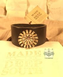 MADE IN THE DEEP SOUTH - Black Leather Cuff Bracelet