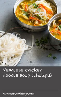 Nepalese chicken noodle soup (thukpa) | Thukpa is a popular soup in the northern Himalayan region of Nepal. Fragrant, hearty and simple to prepare, this satisfying soup recipe is an easy midweek winter warmer.