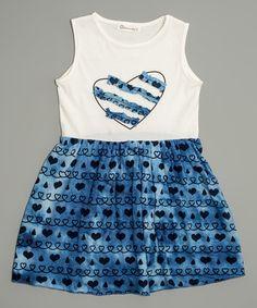 Blue Heart Tank Dress - Toddler & Girls #zulily #zulilyfinds