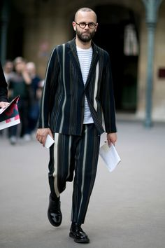 IDEA/NOTE : suit -- Best street style from Paris Men's Fashion Week SS17