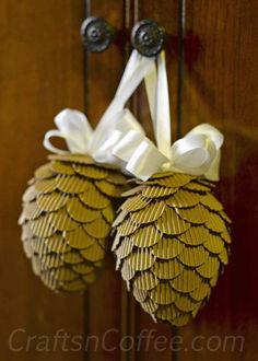 Cardboard Christmas Decorations - Bren Did diy cardboard crafting table - Diy Craft Table Christmas On A Budget, Christmas Crafts, Christmas Decorations, Christmas Ornaments, Fall Crafts, Holiday Crafts, Diy Crafts, Cardboard Crafts, Paper Crafts