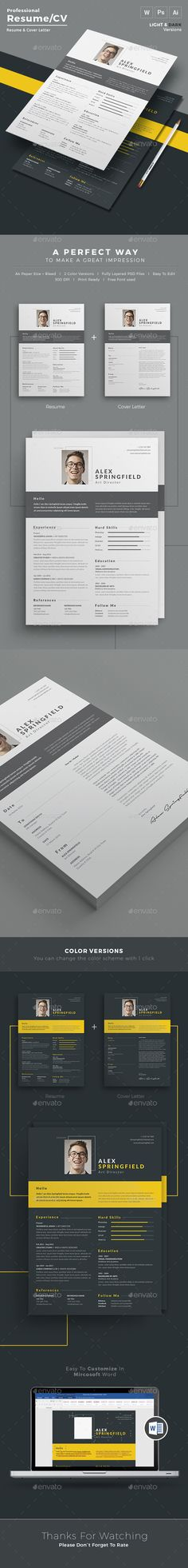 Resume - Resume Word / CV Template with super modern and professional look. Elegant page designs are easy to use and customize, so you can quickly tailor-make your resume for any opportunity and help you to get your job. http://graphicriver.net/item/resume-/15597863?ref=themedevisers