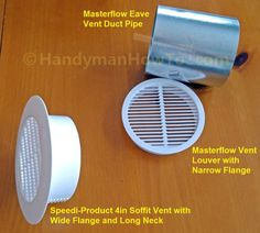 Bathroom Vent Fan: Speedi-Products 4 inch Soffit Vent Model # SM-RSV 4
