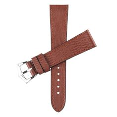 Brown Saffiano  Leather Watch Strap - 20mm x 16mm