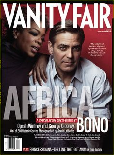 Vanity Fair - The Africa Issue: George Clooney and Oprah