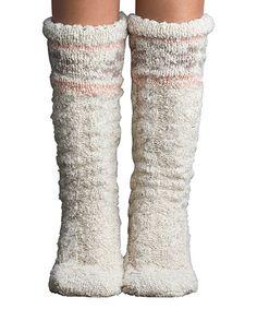 Look at this #zulilyfind! Barley Slubby Snowflake Slipper Socks #zulilyfinds