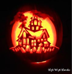Pumpkin Carving of house