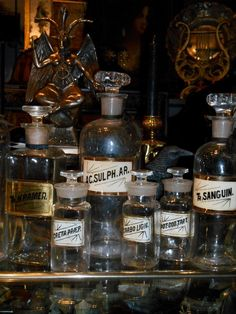 Antique Apothecary Pharmacy Tincture Bottles, c. 1800's, priced each