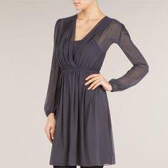 Kaliko Silk Shoulder Tuck Dress- at Debenhams.com