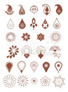 Mehndi Designs (Vector) royalty-free stock vector art