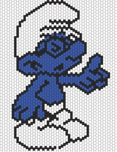 Brainy Smurf bead pattern