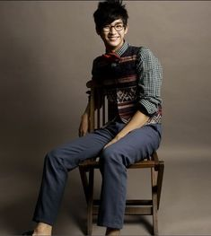 Kim soo Hyun in nerd mode