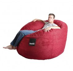 SLACKER sack foam bean bag chairs are the most comfortable, fun and versatile pieces of furniture you can find. Perfect as a huge giant foam beanbag chair for one person. Makes a great Gaming Chair! Our generous amounts of high quality shredded (not chunk) foam and durable Microfiber covers ensure the highest quality product. We use a very strong zipper for extra strength and all the seams are double stitched...