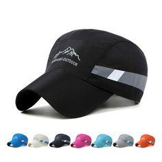 2d904d98763ba Men Women Snapback Quick Dry Outdoor Summer Sun Hat Bones Breathable Mesh  Running Cap Casual Sport