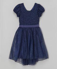 Look what I found on #zulily! Navy Glitter Hi-Low Dress by Speechless #zulilyfinds
