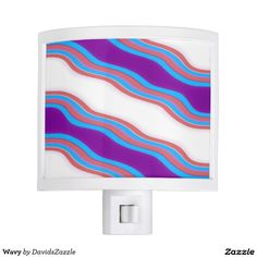 Wavy Night Light Available on many more products! Check out the link and type in the name of this design in the search bar on my Zazzle Products page!  #wavy #wave #pattern #cool #hip #chic #contemporary #modern #style #life #lifestyle #red #blue #purple #stripes #line #ripple #nice #home #decor #apartment #dorm #student #college #den #living #bedroom #bathroom #buy #sale #zazzle #forsale #night #light