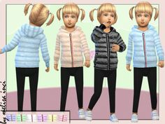 The Sims Resource: Toddlers Padded Puffer Jacket by melisa inci • Sims 4 Downloads