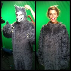 Grace Helbig wearing a werewolf costume. don't judge me.