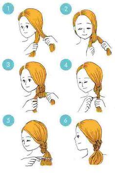 coiffure du double noeud