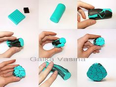 photo tutorial for faux turquoise cane