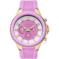 BREEZE Air Hollywood Chrono Pink Rubber Strap Μοντέλο: 110091.1 Τιμή: 180€ http://www.oroloi.gr/product_info.php?products_id=30583