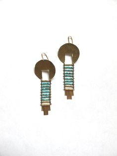 Spirit Guide for Protection Turquoise Earrings by demimondejewelry, $160.00