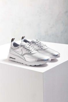 Nike Metallic Silver Air Max Thea SE Trainers