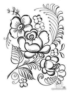 coloring pages for folk art Folk Embroidery, Embroidery Transfers, Learn Embroidery, Hand Embroidery Patterns, Embroidery Stitches, Embroidery Designs, Rose Patterns, Simple Embroidery, Painting Patterns