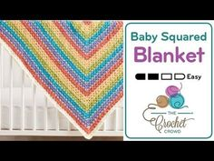 How to Crochet Baby Blanket - Squared Bright - YouTube
