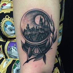 harry potter snow globe tattoo