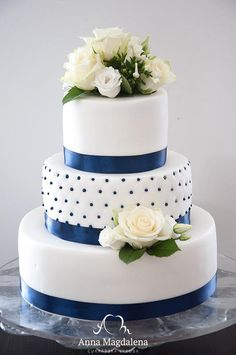 svatební dort modro bílý - Hledat Googlem