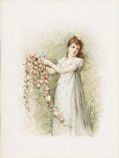 Woman with Garland of Roses | Flickr - Photo Sharing!