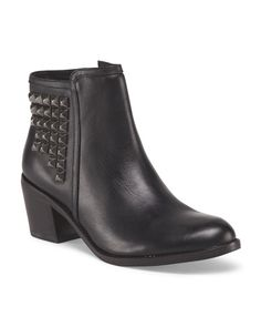 76dd24beda5 Leather Studded Booties - Ankle Boots - T.J.Maxx