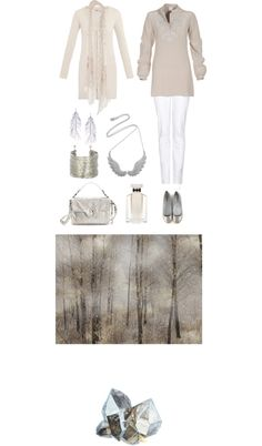 """Gem Collection: Rock Crystal"" by pure-emotion-by-violetta ❤ liked on Polyvore"