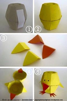Artık materyal yumurta kutusundan etkinlik örnekleri ❤️
