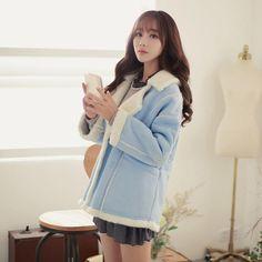 Japanese Fashion - Suede lapel warm long jacket - AddOneClothing - 1