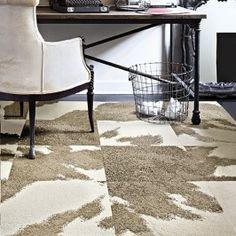 Mod Cow - Tan Flor carpet tiles
