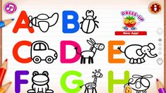 Draw Letters and Animals & ABC Phonics and Tracing & Learn Alphabet for . Learning The Alphabet, Kids Learning, Abc Phonics, Abc For Kids, Educational Games For Kids, Kids Board, Letters, App, Videos