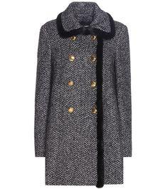 Dolce & Gabbana Fur-trimmed Virgin Wool And Silk-blend Coat For Spring-Summer 2017