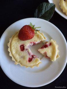 RECELANDIA: Tartaletas de queso, leche condensada y fresas