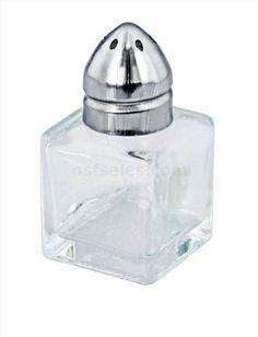 48 pcs Mini Cube Salt & Pepper ShakerStainless SteelTop 1/2 OZ by New Star. $19.99