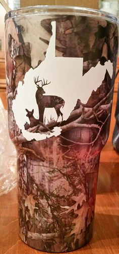 State Buck and Doe ***DECAL ONLY*** by LowTideCrafters on Etsy