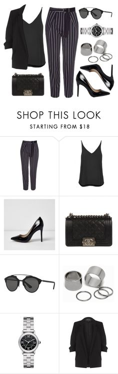"""Sin título #12784"" by vany-alvarado ❤ liked on Polyvore featuring Topshop, River Island, Chanel, Christian Dior, Pieces and Marc Jacobs"