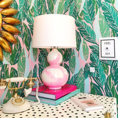 KellyGolightly on Instagram -- her space using our Nana Wallpaper !