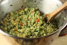 pesto quinoa-something for when we're overloaded with basil