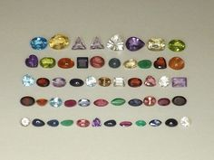 Mixed Lot Natural Gemstones 30tcw from scrap gold silver vintage jewelry B