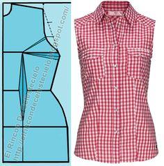 Patrón básico de blusa con pinza de costado o lateral (Método actualizado)
